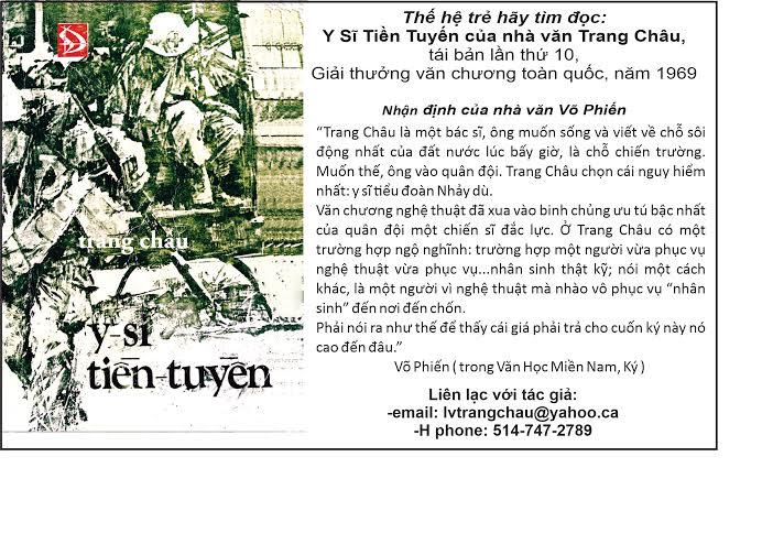 Y Sĩ Tiền Tuyến Trang Châu