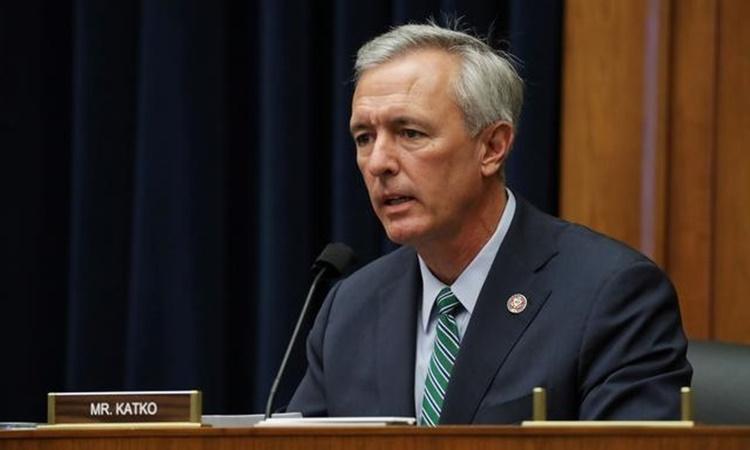 Hạ nghị sĩ John Katko tại một phiên điều trần của Ủy ban An ninh Nội địa Hạ viện hồi tháng 9 năm ngoái. Ảnh: Reuters.