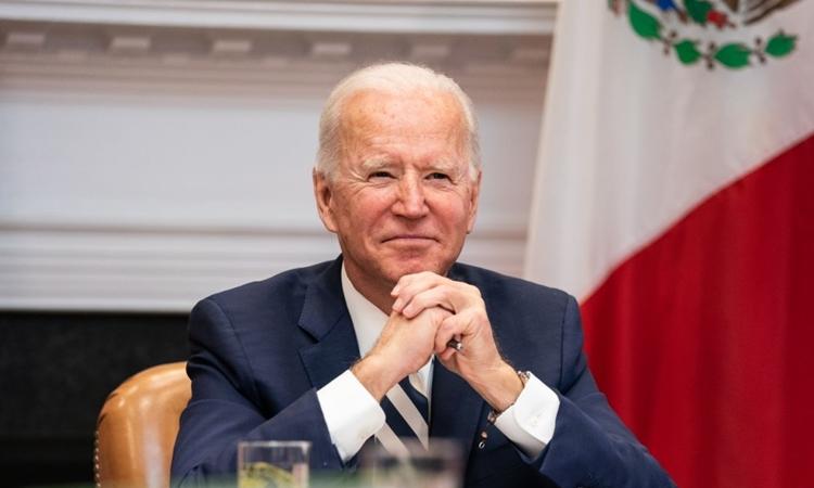 Tổng thống Mỹ Joe Biden trong cuộc họp tại Nhà Trắng hôm 1/3. Ảnh: AFP.