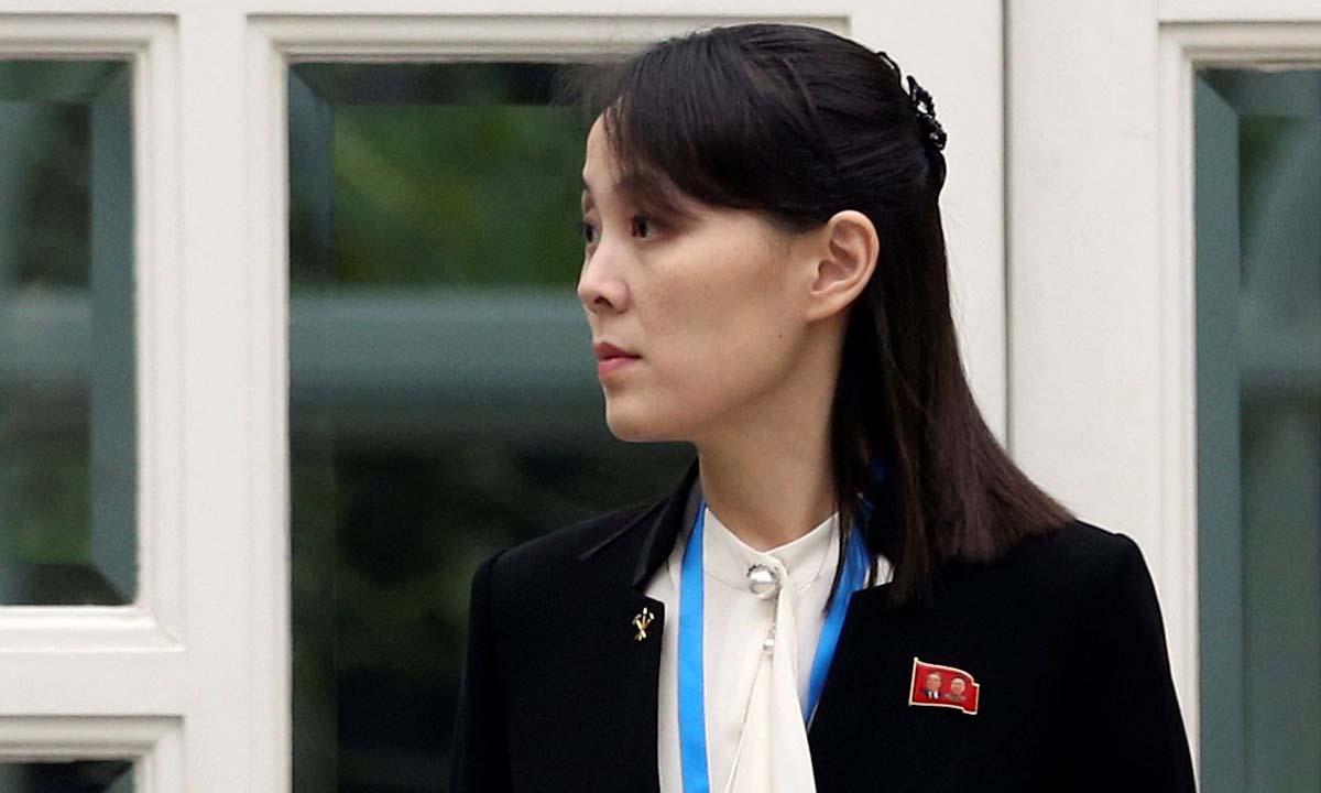Kim Yo-jong, em gái lãnh đạo Triều Tiên Kim Jong-un, tại hội nghị thượng đỉnh Mỹ - Triều ở Hà Nội hồi tháng 2/2019. Ảnh: Reuters.