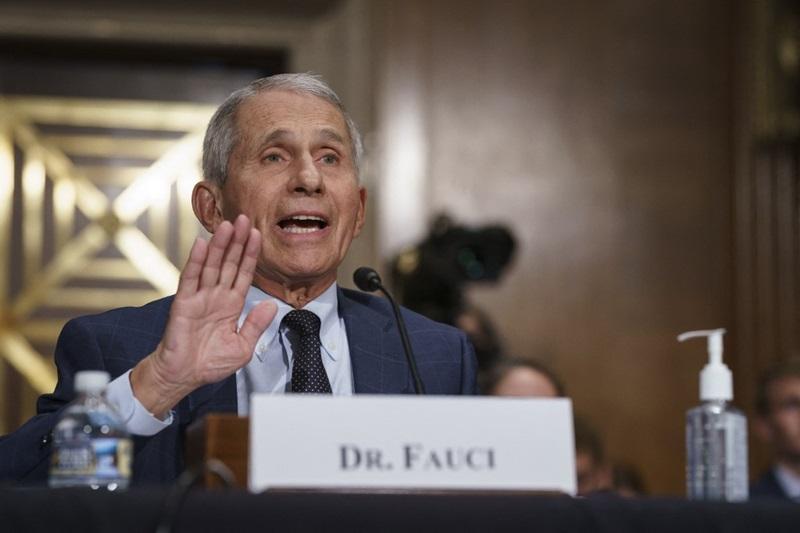 Tiến sĩ Anthony Fauci tại phiên điều trần của Ủy ban Y tế Thượng viện hôm 20/7. Ảnh: AFP.