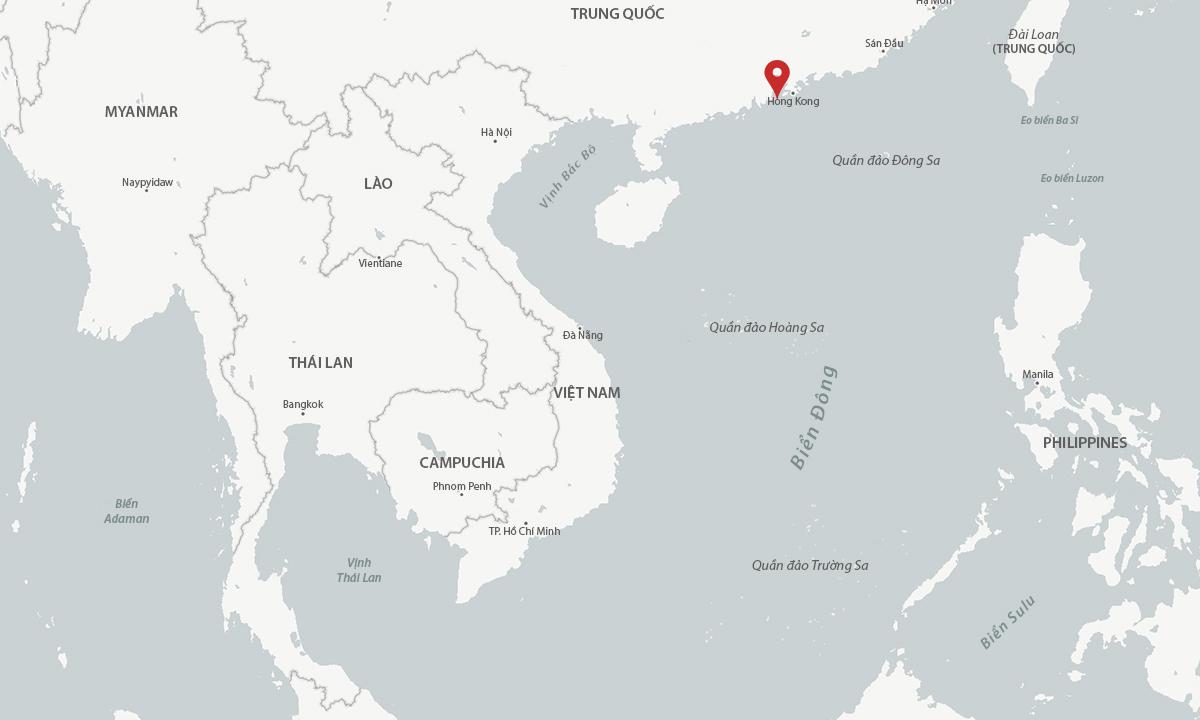 Vị trí quân đội Trung Quốc tổ chức diễn tập ngày 20/7 (đánh dấu đỏ). Đồ họa: CSIS.