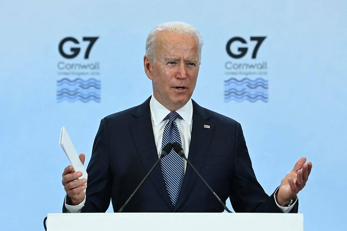 Tổng thống Mỹ Joe Biden tại hội nghị G7 ở Anh ngày 17/6. Ảnh: AFP.