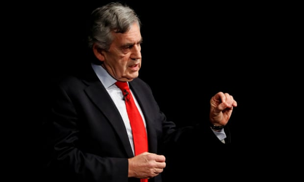 Cựu thủ tướng Anh Gordon Brown phát biểu tại một sự kiện ở Edinburgh, Scotland, hồi tháng 1/2019. Ảnh: Reuters.