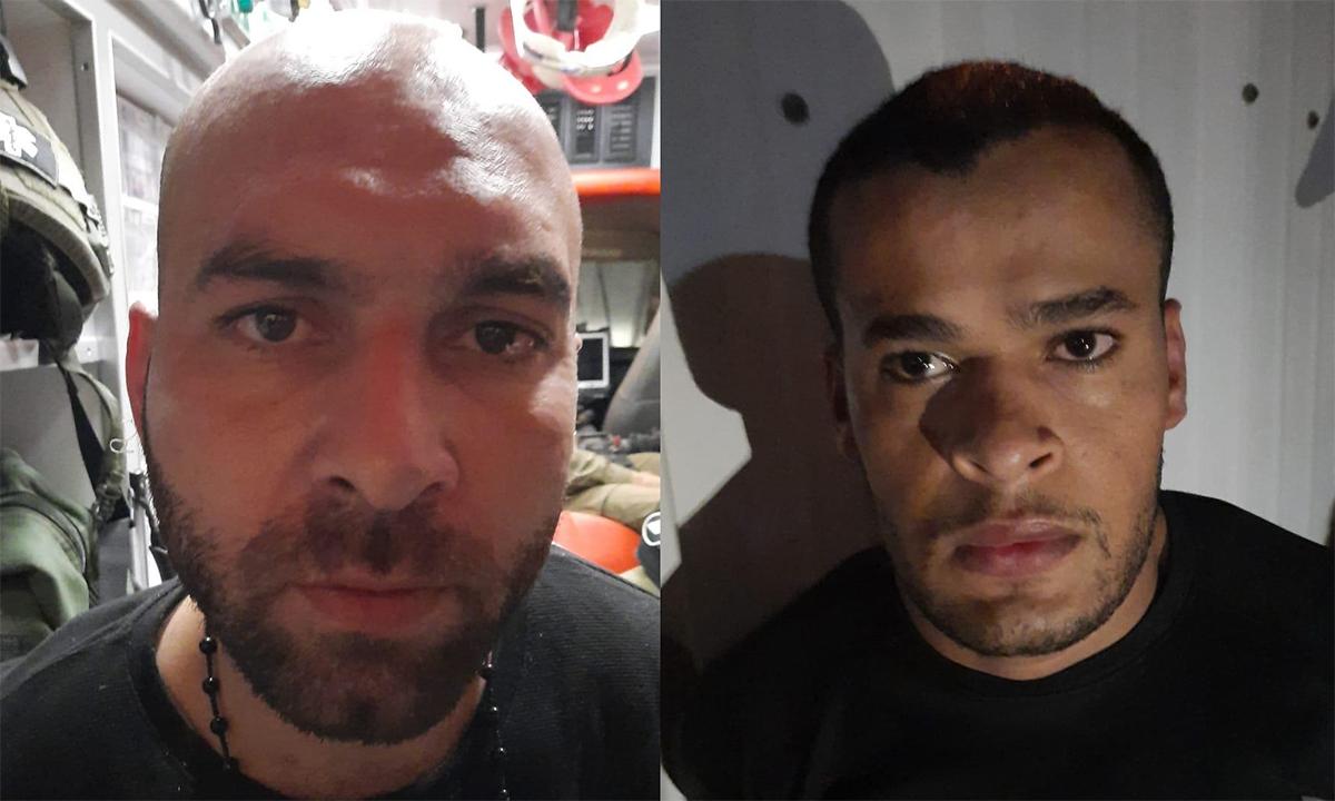Iham Kamamji (trái) và Munadil Nafiyat (phải) sau khi bị bắt ngày 19/8. Ảnh: Shin Bet.